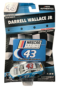 Darrell Wallace Jr. 2018 NASCAR Racing Experience with Die-cut Magnet