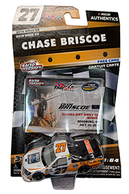 Chase Briscoe 2018. Eldora Win with Collector Card